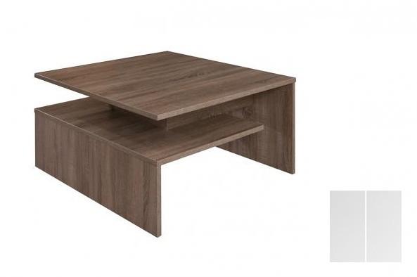 Konfereční stolek - dřevěný Selar III (Bílá arctic/Bílá arctic)