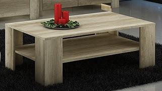 Konfereční stolek - dřevěný Sky - Konferenční stolek SL103 (country šedá)