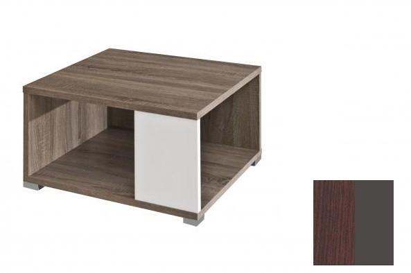 Konfereční stolek - dřevěný Squat (Dub tmavý Wenge/Grafit)