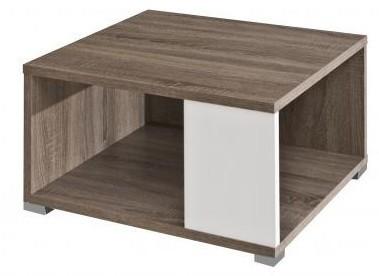 Konfereční stolek - dřevěný Squat (Dub Trüffel/Bílá)