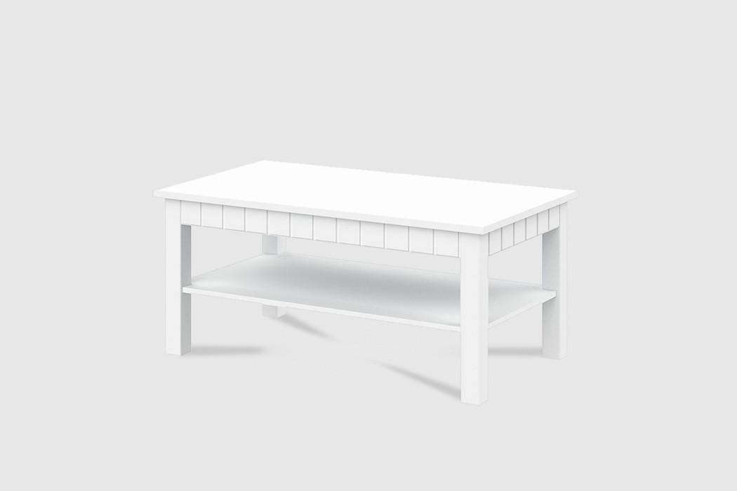 Konfereční stolek - dřevěný Tampere - Typ 45 (bílá arctic)