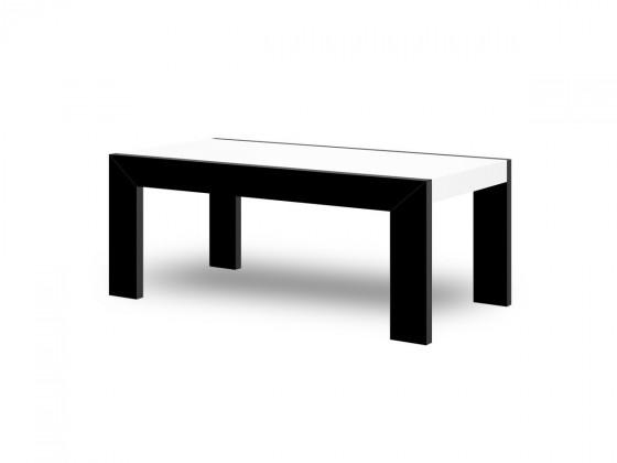 Konfereční stolek - dřevěný Tivoli (bílá lesk+černá lesk)