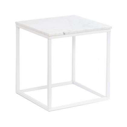 Konferenční stolek Accent - čtverec (mramor, bílá)