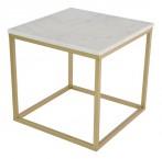 Konferenční stolek Accent - hnědý rám (přírodní mramor, ocel)