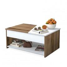 Konferenční stolek Artur (ořech, bílá)