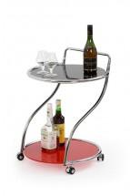 Konferenční stolek Bar 6 (Černo-červený)
