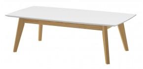 Konferenční stolek BESS (bílá/dub)