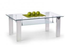 Konferenční stolek Brisa (Čiré sklo/Nerez)
