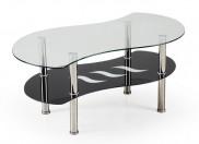 Konferenční stolek Catania (sklo/ černá police)