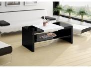 Konferenční stolek Duo (černá lesk+bílá lesk)