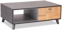 Konferenční stolek Hakon - 120x45x75 cm (hnědá, šedá)