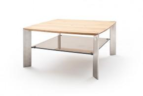 Konferenční stolek Harla - 80x41x80 (dub, hnědá)