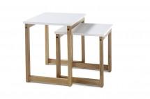 Konferenční stolek Juvena - set 2 kusů (bílá)