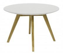 Konferenční stolek Lola Bess - bílá, dub - II. jakost