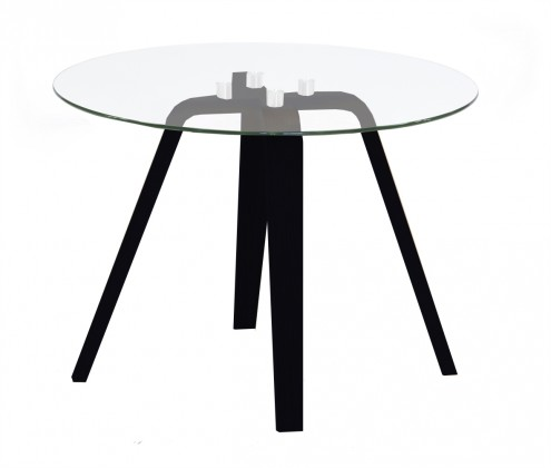 Konferenční stolek Lola Ella - sklo, černá (9312-024+9307-090)