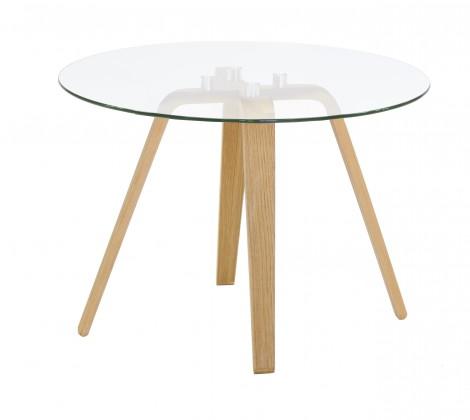 Konferenční stolek Lola Ella - sklo, dub (9312-054+9307-090)