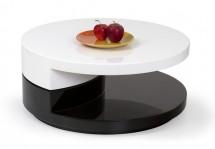 Konferenční stolek Madeleine (bílá/černá)