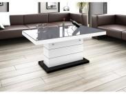 Konferenční stolek Matera Lux (šedá lesk+bílá lesk)