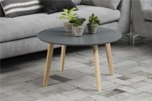 Konferenční stolek Molina (šedá deska/jasan nohy)