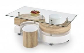 Konferenční stolek Nina IV (dub sonoma/bílá)