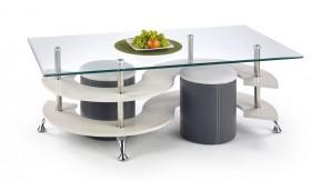 Konferenční stolek Nina V (šedá/tmavě šedá)