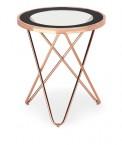 Konferenční stolek Nola - kruhový (měď, černá)