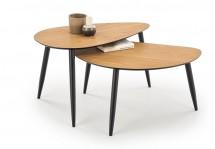 Konferenční stolek Noli - set 2 kusů (ořech, černá)
