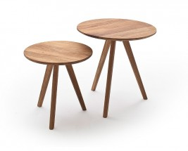 Konferenční stolek Olean - set 2 kusů (hnědá)