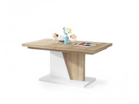 Konferenční stolek rozkladací Flox 2 (dub sonoma, bílá)