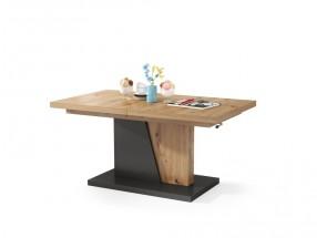Konferenční stolek rozkládací Flox (dub artisan, antracit)
