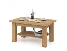 Konferenční stolek rozkládací Indra (dub craft, zlatá)