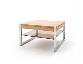Konferenční stolek Saget - 65x38x65 (dub, hnědá)