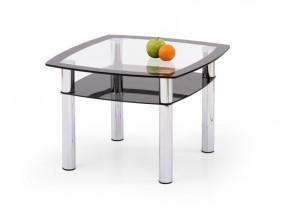 Konferenční stolek Salome kwadrat (Čiré sklo/Černé sklo)