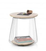 Konferenční stolek Selvan - 50x51x50 (dub, hnědá)