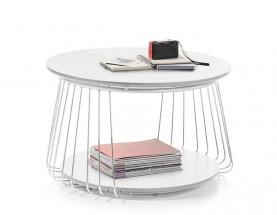 Konferenční stolek Selvan - 70x42x70 (bílá)