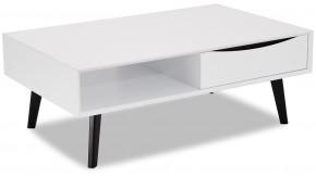 Konferenční stolek Sens (bílá, černá) - PŘEBALENO