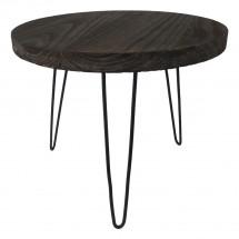 Konferenční stolek Shape 50x42x50 (tmavé dřevo)