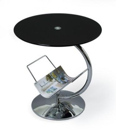 Konferenční stolek - skleněný Alma(černá)