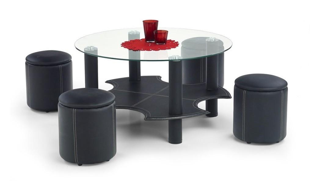 Konferenční stolek - skleněný Belinda(černá)