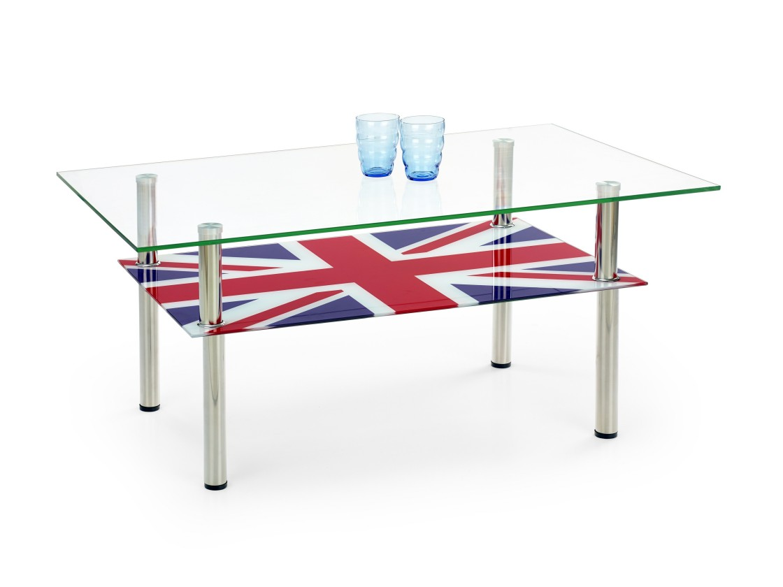 Konferenční stolek - skleněný Cleopatra - Konferenční stolek (UK)