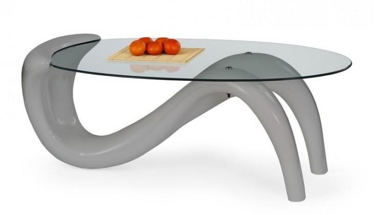 Konferenční stolek - skleněný Cortina (Šedá)