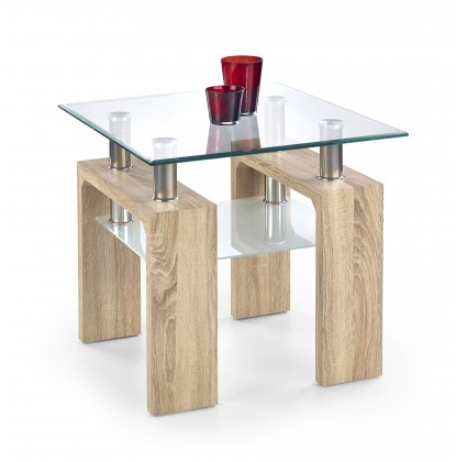 Konferenční stolek - skleněný Diana H Kwadrat - konferenční stolek