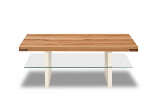 Konferenční stolek - skleněný Feel - Konferenční stolek (divoký buk/bílá)