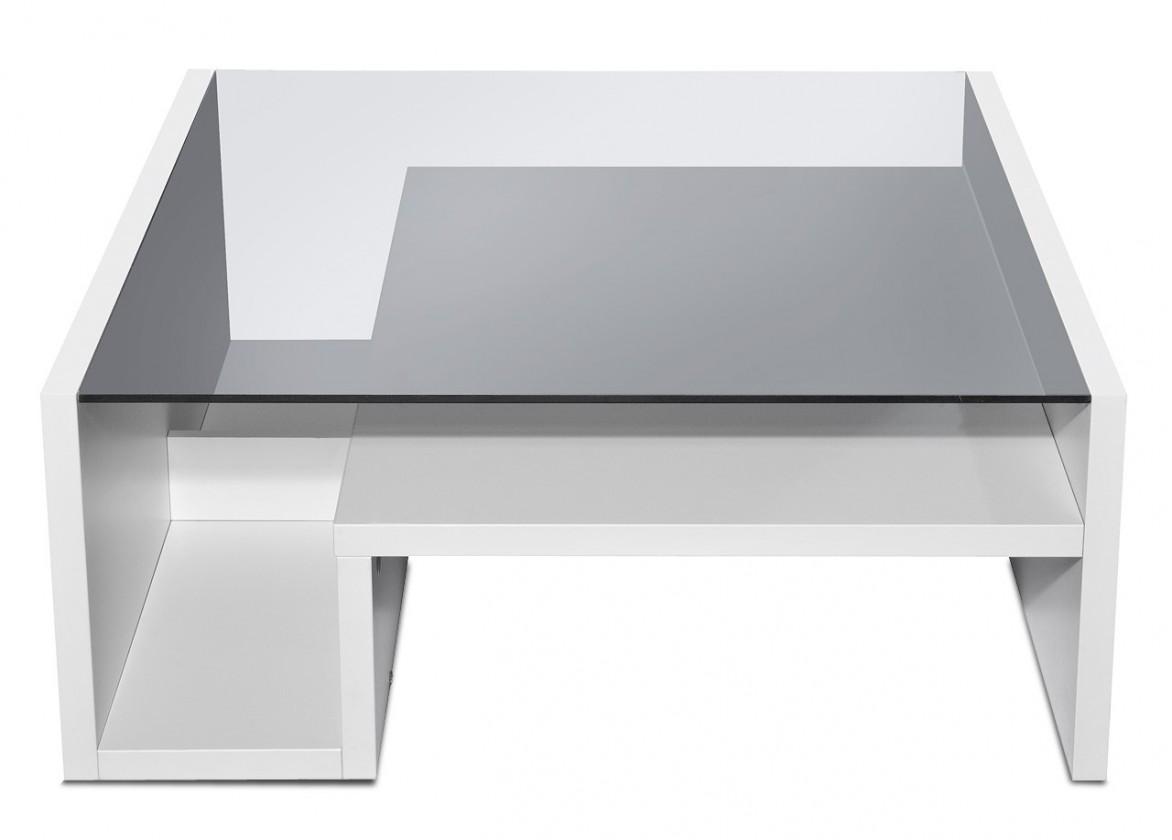 Konferenční stolek - skleněný Game plus - konferenční stolek se skleněnou deskou (bílá)