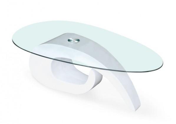 Konferenční stolek - skleněný Gerda(bílá)