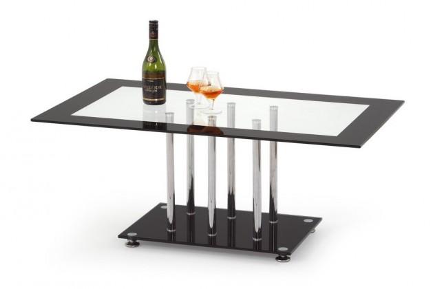 Konferenční stolek - skleněný Harriet(sklo s černým rámem)