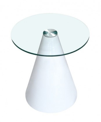 Konferenční stolek - skleněný Hestia(bílá)