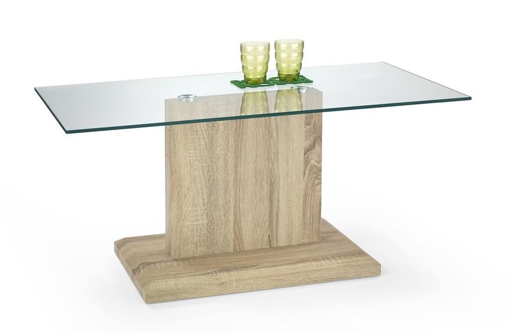 Konferenční stolek - skleněný Iguana(dub sonoma)