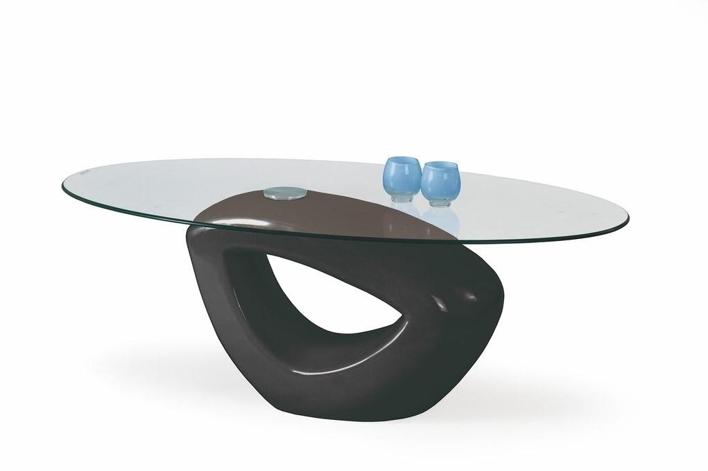 Konferenční stolek - skleněný Jasmin (Černá)