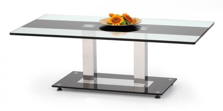 Konferenční stolek - skleněný Julia(sklo/černá)